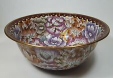Vintage Chinese Cloisonne Bowl Chrysanthemum & Butterflies