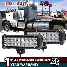 "2x 9"" LED Work Light Spot Flood Driving Fog For Semi Truck Peterbilt 357 378 379"