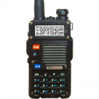 Mitsuta UV-5R 5th Gen. 8W TRi Band Two-Way Radio - Black (BF-F8HP) W/FM  radio