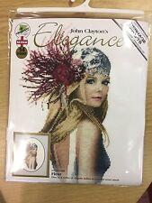 """John Clayton Elegance """"Fleur"""" Punto Croce Kit da Heritage Crafts RRP £ 37"""