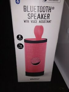 Vivitar Portable Mini Wireless Bluetooth Speaker with Voice Assistant Pink