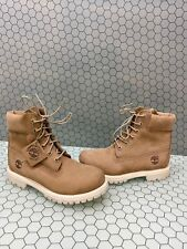 Timberland Premium 6 Inch Beige Nubuck Waterproof Lace Up Boots Men's Size 6.5 M