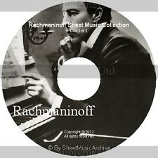 Massive Professional Rachmaninoff Sheet Music Collection Archive Library on DVD