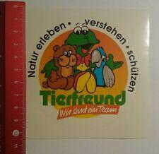 Aufkleber/Sticker: Tierfreund wir sind Ein Team Natur erleben (120716119)