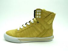 PRE-OWNED SUPRA SKYTOP GOLD WHITE WOMEN SHOES SIZE 7