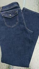 Simply Vera Wang blue jeans boot stretch sz 10 pocket flap button