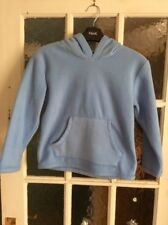 Childs Ladybird Fleece jumper with hood, colour blue size 6-7 years