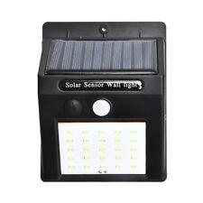 Waterproof 20 Led Solar Power Pir Motion Sensor Wall Light Outdoor Garden LampWG
