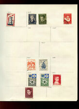 Netherlands Album Page Of Stamps #V4999