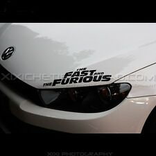 VW The fast and furious Sports Car eyelash Sticker Vinyl Decal 40*10cm xx