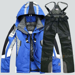 Men's Ski Suit Snow Jacket Pants Snowboard Sports Trousers Overalls Outdoor New