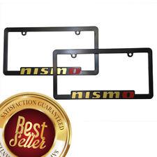 x2 NISMO License Plate Frame Nissan Maxima Juke Sentra 350Z 370Z Altima GOLD
