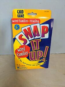 Snap It Up Word Families Reading Card Game Learning Resources LER3043 NEW