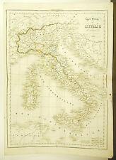 L'Italie moderne Italia carte ancienne 1838 Ancient map Karte 45cm 38cm