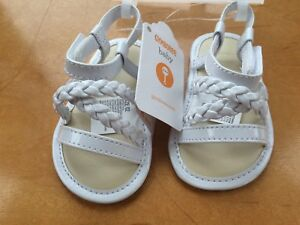 NWT Gymboree Family Brunch White Sandals Crib Shoes Baby Girl Infant 01,02,03,04