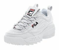 FILA Disruptor II White, Peacoat, Vin Red Mens Sneakers Tennis Shoes FW01655-111
