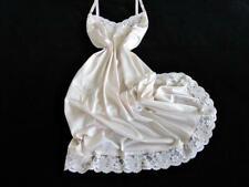 Womens Lorraine Full Slip 36 +/- Vintage Silky Beige Nylon Sheer Lace Hem NEW