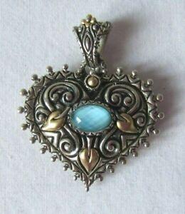 Barbara Bixby Sterling Silver & 18K Turquoise Paradise Found Heart Enhancer