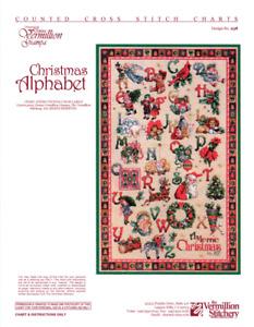 Christmas Alphabet Vermillion Stitchery Cross Stitch Pattern 258