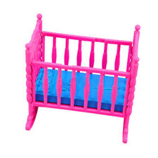 1PC Pink Mini Doll Furniture Cradle Bed Doll Accessories Dolls House Toy Gift