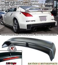 N1 RS-Style Rear Trunk Spoiler Wing (ABS) Fits 03-08 Nissan 350z