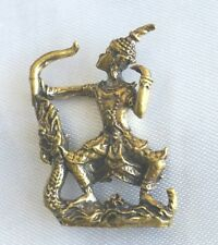 Statue Brass Vishnu shoot an arrow For Superpower Merciful LP kalong Thai Amulet