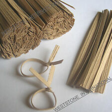 "1000pcs 7"" Paper Kraft Twist Ties for Bakery Cello Bags"