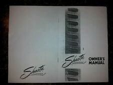 Shasta Vintage Travel Trailer Owners Manual New (Copy)