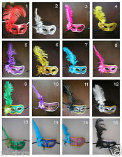 2 Dozen Rose Venetian Costume Masquerade Cosplay Fancy Ball Party Mask Feather