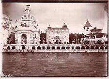 A419 Photo Citrate Original Expo Universelle Paris 1900 Vue palais sur la seine