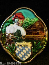 Bavaria Bayern hiking medallion stocknagel badge G9946