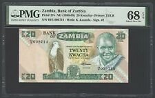 Zambia 20 Kwacha ND(1980-88) P27e Uncirculated Graded 68