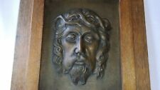 "ANCIEN TABLEAU EN DINANDERIE "" JESUS CHRIST "" de M. HAAGUEN signée vers 1930"