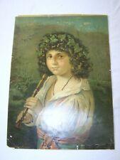 ITALIAN SHEPHERD BOY 1800'S Chromolithograph