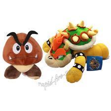 2pcs Super Mario Bros King Bowser Koopa & Goomba Plush Doll Stuffed Animal Toy
