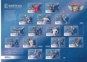 LVZ Leipzig  HCL  Handball  Block mit 16 Marken  **
