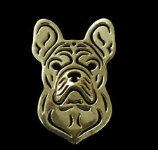 French Bulldog Brooch or Lapel Pin -Fashion Jewellery Gold Plated, Stud Back