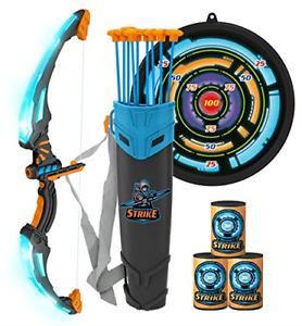 JOYIN Bow and Arrow Archery Toy Set for Kids, Light Up Archery Play Set with 9