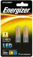 2 x 2w (=20w) Energizer LED G9 ECO Capsule Bulb  3500k Warm 6500k Daylight White