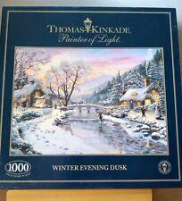 Thomas Kinkade Winter Evening Dusk Jigsaw Gibsons 1000 pc, used, good condition