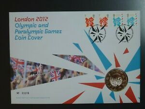 GB - 2012 OLYMPICS £5 UNCIRCULATED PNC ROYAL MINT COIN COVER(REF.CO1)