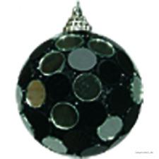 Spiegelkugel runde Spiegel schwarz-silber 6 Stück  7cm, Discokugel