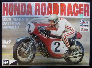 "New in Shrink-Wrap: MPC ""Dick Mann's"" Honda Road Racer 1/8 Scale Model Kit"