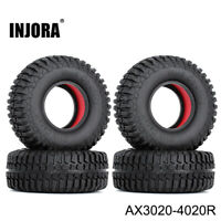 """1.9"""" Tires & Dual Stage TPE Foam for 1/10 RC Axial SCX10 90046 AXI03007 CC01 D90"""
