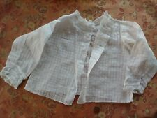 1800s babies jacket coat Embroidered Lace Trim Antique child's shirt collar