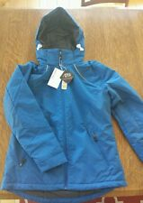 NORTH END WOMEN'S LINEAR INSULATED WINTER SNOW SKI SNOW BOARD JACKET COAT, BLUE