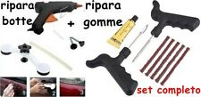 kit 2in1 RIPARA BOTTE AUTO AMMACCATURE CARROZZERIA e pneumatici gomme foratura