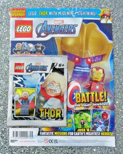 LEGO MARVEL AVENGERS MAGAZINE #5 ~  2021 ~ NEW WITH THOR FIGURE ~