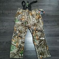 UNDER ARMOUR Timber Realtree Camo Hunting Pants Bibs Mens 2XL Extreme Season kit