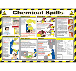 Chemical Spills Laminated Poster 590mm x 420mm (P304)